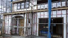 甲府市山宮に建つエイジング加工を施した大きなお家 外装工事1