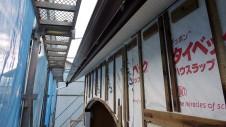 甲斐市龍地 漆喰仕上げのキュートなお家 外装工事1
