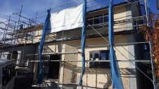 甲府市山宮に建つエイジング加工を施した大きなお家 外装工事11