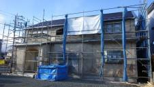 甲府市山宮に建つエイジング加工を施した大きなお家 外装工事13