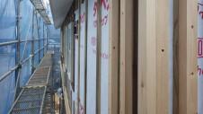 北杜市高根町 漆喰とウッドデッキのお家 外装工事1