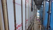 甲府市山宮に建つエイジング加工を施した大きなお家 外装工事2