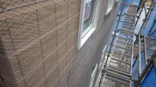 甲斐市龍地 漆喰仕上げのキュートなお家 外装工事3