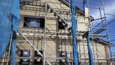 甲府市山宮に建つエイジング加工を施した大きなお家 外装工事4