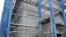 北杜市高根町 漆喰とウッドデッキのお家 外装工事4