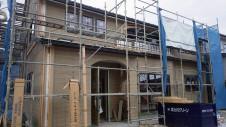 甲府市山宮に建つエイジング加工を施した大きなお家 外装工事5