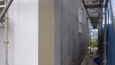 北杜市高根町 漆喰とウッドデッキのお家 外装工事5