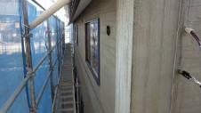 甲府市山宮に建つエイジング加工を施した大きなお家 外装工事6