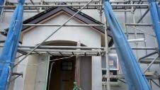 北杜市高根町 漆喰とウッドデッキのお家 漆喰塗り外装工事6