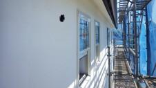 北杜市高根町 漆喰とウッドデッキのお家 漆喰塗り外装工事7