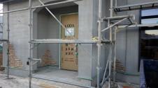 甲府市山宮に建つエイジング加工を施した大きなお家 外装工事8