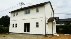 北杜市高根町 漆喰とウッドデッキのお家 漆喰塗り外装工事8