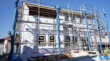 中央市浅利 自然素材の漆喰外壁のお家 上棟5