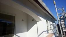 中央市浅利 自然素材の漆喰外壁のお家 外装工事10