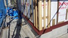 中央市浅利 自然素材の漆喰外壁のお家 外装工事4