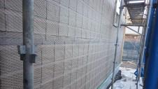 中央市浅利 自然素材の漆喰外壁のお家 外装工事6