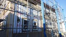 中央市浅利 自然素材の漆喰外壁のお家 外装工事5