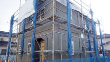 中央市浅利 自然素材の漆喰外壁のお家 外装工事8