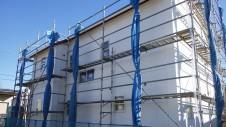 中央市浅利 自然素材の漆喰外壁のお家 外装工事9