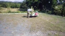 甲斐市龍地 漆喰仕上げのキュートなお家 地盤調査