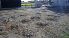 甲斐市龍地 漆喰仕上げのキュートなお家 地盤改良工事2