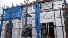 甲斐市龍地 漆喰仕上げのキュートなお家 上棟11