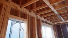 甲府市山宮に建つエイジング加工を施した大きなお家 上棟工事10