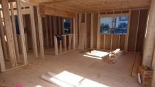 甲府市山宮に建つエイジング加工を施した大きなお家 上棟工事11