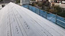 甲府市山宮に建つエイジング加工を施した大きなお家 上棟工事12