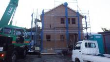中央市浅利 自然素材の漆喰外壁のお家 上棟4