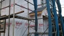 北杜市高根町 漆喰とウッドデッキのお家 上棟9