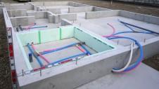 中央市浅利 自然素材の漆喰外壁のお家 基礎工事7