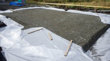 甲斐市龍地 漆喰仕上げのキュートなお家 基礎工事1