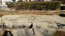 北杜市高根町 漆喰とウッドデッキのお家 基礎工事1