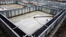 甲府市山宮に建つエイジング加工を施した大きなお家 基礎工事4