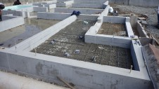 甲府市山宮に建つエイジング加工を施した大きなお家 基礎工事5