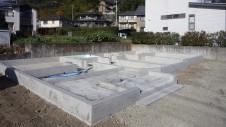 甲府市山宮に建つエイジング加工を施した大きなお家 基礎工事7