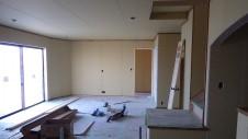 甲府市山宮に建つエイジング加工を施した大きなお家 内装工事14