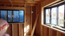 甲府市山宮に建つエイジング加工を施した大きなお家 内装工事3