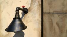 笛吹市石和町 エイジング加工のキュートな家 アンティークライト