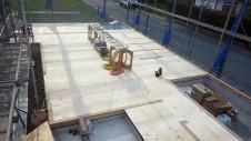 甲斐市 書斎からガレージが見えるインダストリアルデザインのお家 土台敷き1
