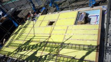 甲府市国母 漆喰と極厚フフローリングのカワイイお家 土台敷き2