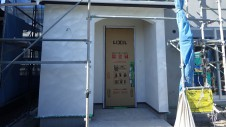 甲斐市竜王新町 自然素材にこだわるお家 外装工事10