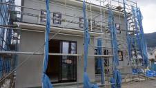 甲府市山宮町 インダストリアルデザインのお家 外装工事12