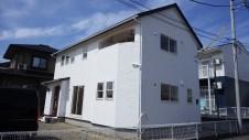 甲斐市竜王新町 自然素材にこだわるお家 外装工事15