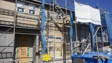甲斐市竜王新町 自然素材にこだわるお家 外装工事7