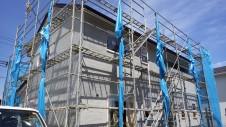 甲府市国母 漆喰と極厚フフローリングのカワイイお家 外装工事10