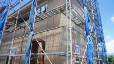山梨市 大好きな自然素材の漆喰のこだわりのお家 外装工事11