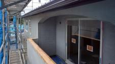 甲府市国母 漆喰と極厚フフローリングのカワイイお家 外装工事12