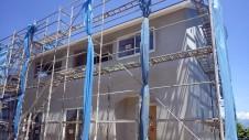 山梨市 大好きな自然素材の漆喰のこだわりのお家 外装工事15